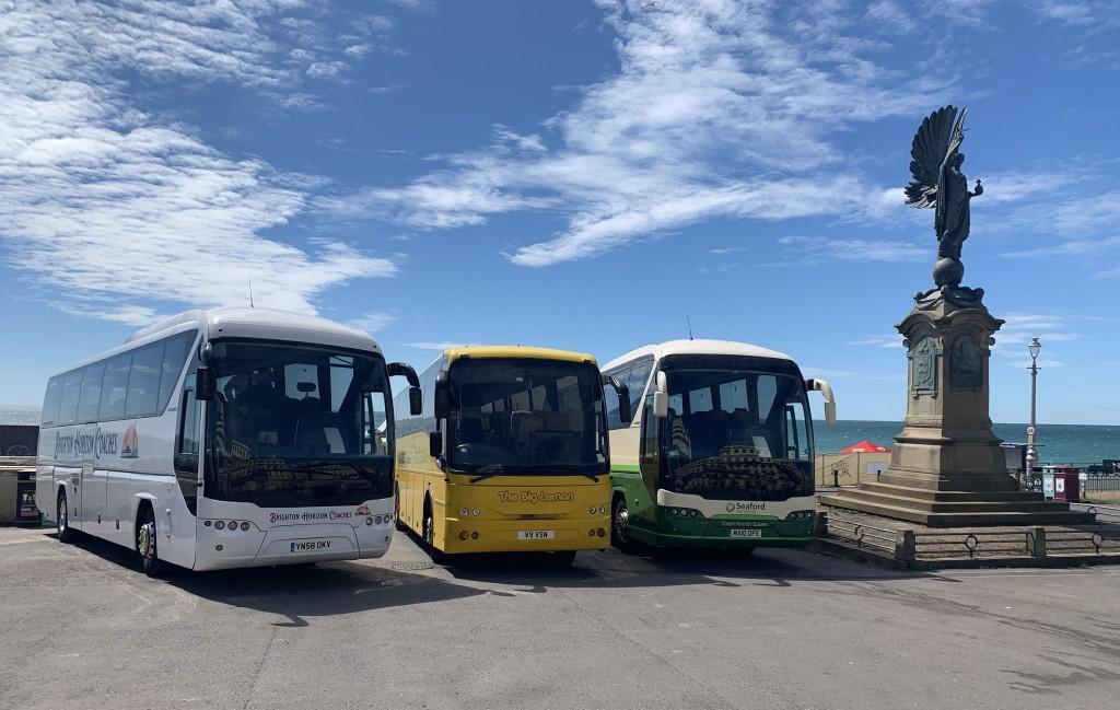 Brighton Horizon Coaches Launch event on Brighton & Hove seafront